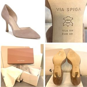 Via Spiga Ondine blush nude suede d'orsay pump 9